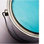 turquoise latex paint