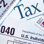 tax form with calendar