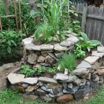 garden within a retaining wall