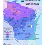 plant hardiness map of Wiasconsin