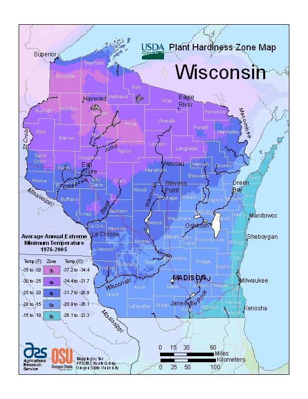 USDA Unveils New Plant Hardiness Zone Map – Extension Fond du Lac on