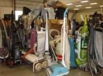 room of vacuum cleaners