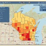 map of Wisconsin comparing water quality throughout the state