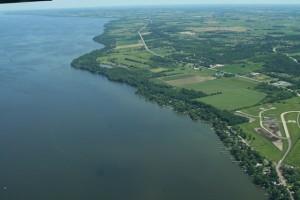 photo of a lake shoreline