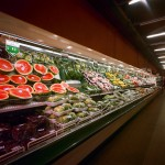 produce aisle at the grocery store