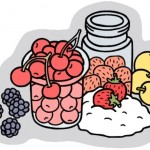 clipart of canned and fresh fruits