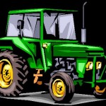 image of a green tractor