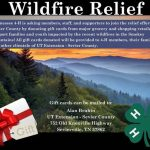 Wildfire relief 4-H 2016