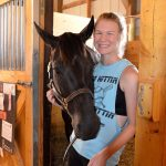 County Fair - 4-H member with horse