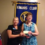 Shelley receives donation from Kiwanis Club