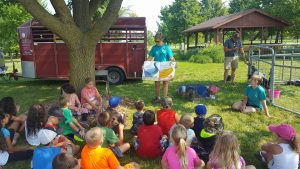 Cloverbud participants learned about nature, farm animals, and also learned to do crafts.