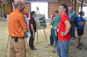 Attendees at the Cover Crop Field Day were educated about the the Rock River Watershed.