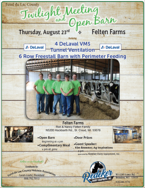 Fond du Lac County Twilight Meeting and Open Barn event information
