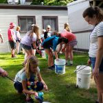 Fond du Lac County 4-H Youth tie-dye t-shirts at camp