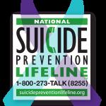 National Suicide prevention lifeline. 1-800-273-TALK (8255). suicidepreventionlifeline.org