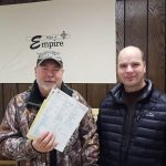 Two town of Empire residents with their shared well results