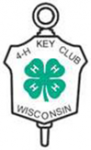 4-H Key Award Symbol with a green clover in the inside