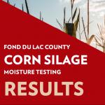 corn silage moisture results